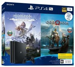 Игровая консоль Sony PlayStation 4 Pro 1Tb Black (God of War & Horizon Zero Dawn CE) 9994602